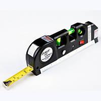 Лазерный уровень нивелир FIXIT Laser Level Pro PR0 3 в 1: лазерный уровень жидкостный уровень рулетка (PR0357)