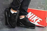 Мужские зимние кроссовки черные Nike Air Max 270 6662