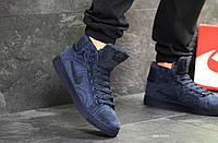 Зимние мужские кроссовки Nike Jordan темно синие / кроссовки мужские зимние Найк Джордан