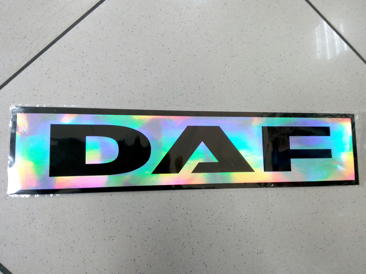 Виниловая наклейка DAF голография  35х8 см