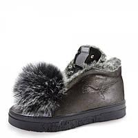 """Зимние ботинки """"PUMA"""". Никель."""