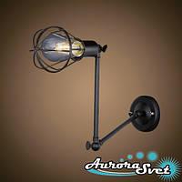 Бра настенная AuroraSvet loft 7300 чёрная. LED светильник бра. Светодиодный светильник бра.