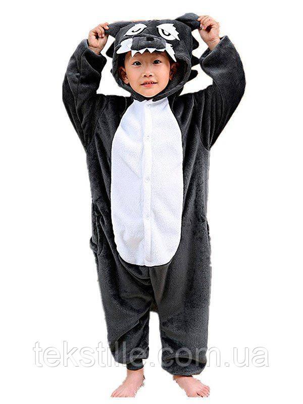 Кигуруми Детский Серый Волк 140 — в Категории