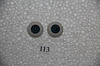 Глазки полусферы голубые, 20 мм. акриловые.  TR20. № 113