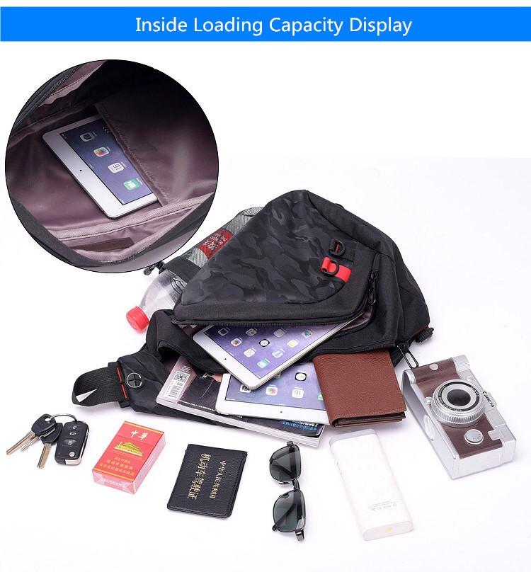 59ec45d24ecd ... фото Мужской рюкзак слинг на плечо с USB портом.Городской рюкзак cross  body. ...