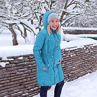 0c51ff70d4c1 Зимняя Куртка для беременных 2 в 1 Бирюза Love   Carry Пальто (Размер 34 S
