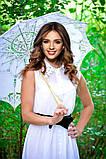 Зонтик свадебный кружевной белый, фото 3