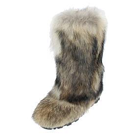 Мужские унты из натурального меха волка размеры 41-46