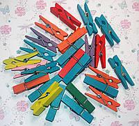 Декоративные цветные деревянные прищепки, 10 шт., 4,5 см, ассорти