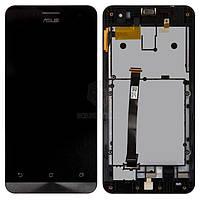 Дисплей Asus ZenFone 5 A500CG, ZenFone 5 A500KL, ZenFone 5 A501CG|Оригинал|с сенсорным стеклом и рамкой|Черный