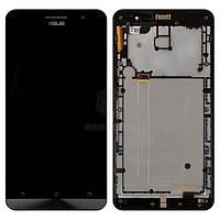 Дисплей Asus ZenFone 6 A600CG|Оригинал|с сенсорным стеклом и рамкой|Черный