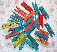 Декоративные цветные деревянные прищепки, 10 шт., 2,5 см, ассорти