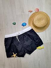Шорты мужские пляжные короткие чёрные -163-02, фото 2