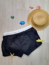 Шорты мужские пляжные короткие чёрные -163-02, фото 3
