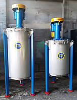 Смеситель для жидких материалов объемом 350 литров, вертикальный.