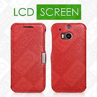 Чехол iCarer для HTC One M8 Litchi Pattern Red (side-open) (RHM80001)