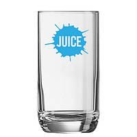 Стакан для сока брендированный, нанесение логотипа на стакан