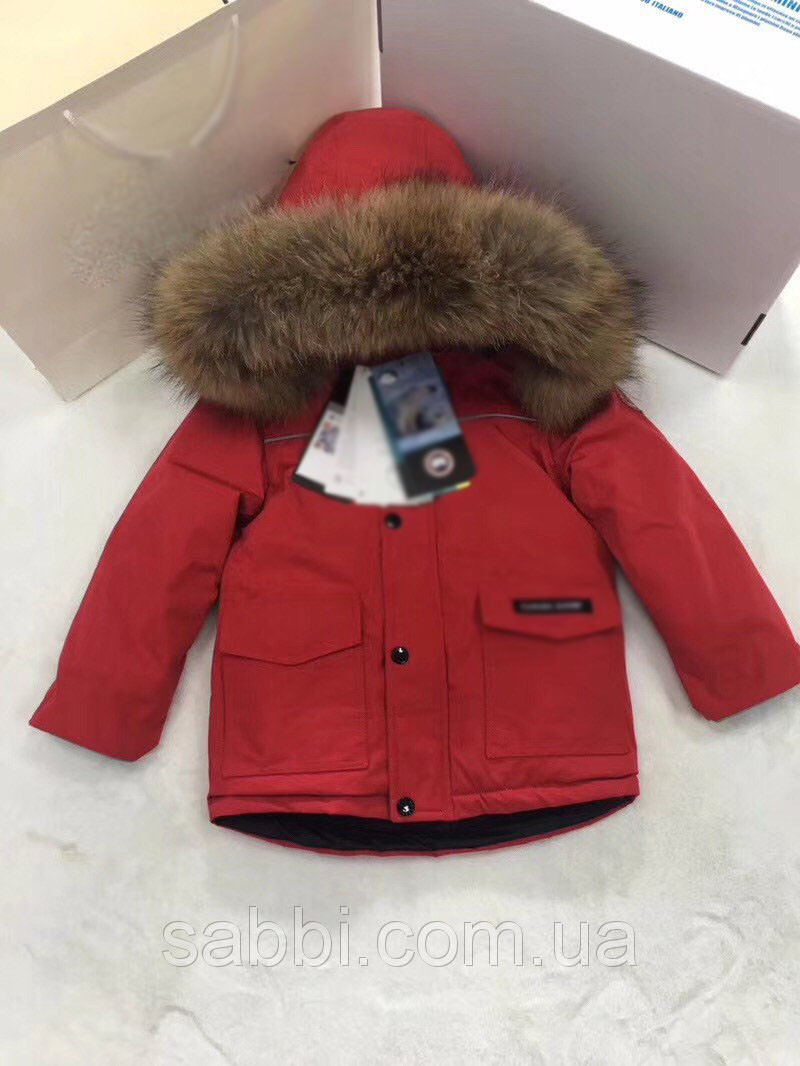 Детская куртка пуховик Sabbi красная