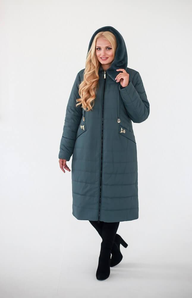 Женское зимнее стеганое пальто