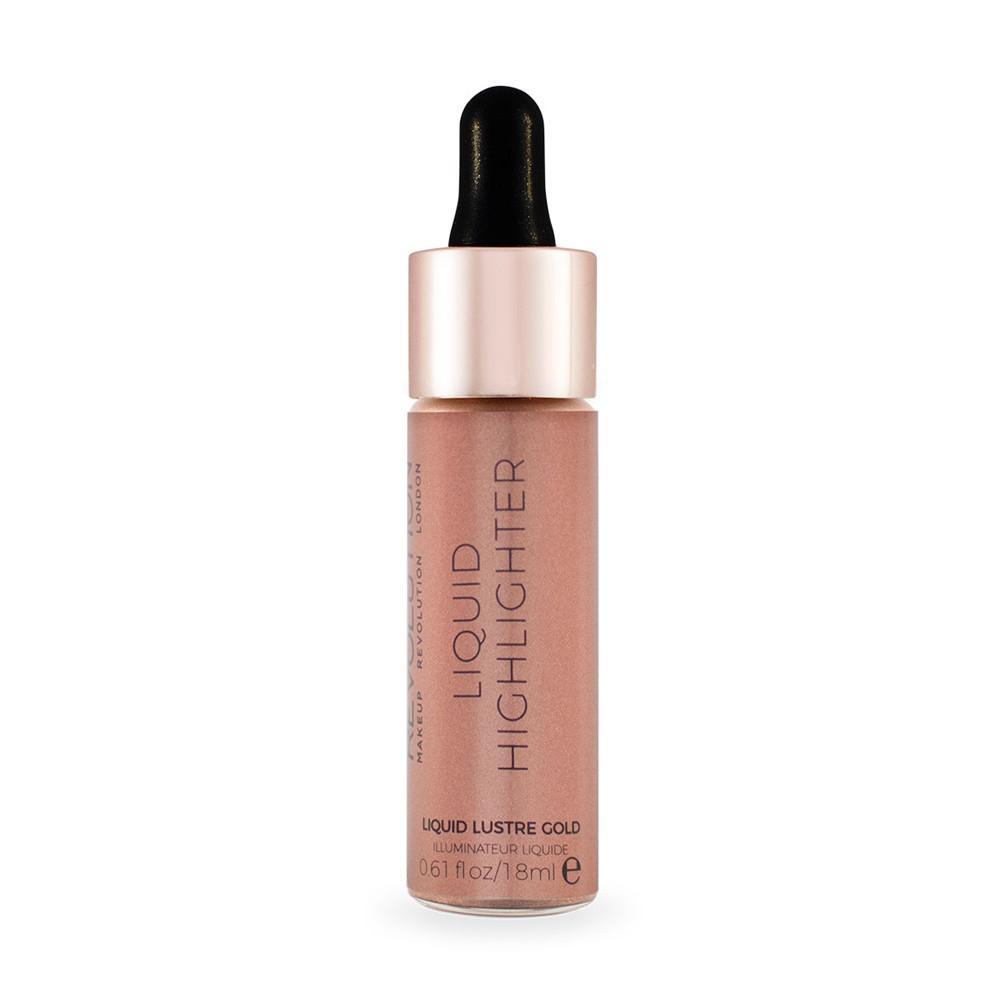 Жидкий хайлайтер для лица Makeup Revolution Liquid Highlighter - Liquid Lustre Gold