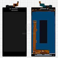 Дисплей Lenovo P70, P70-A, P70a, P70T Оригинал с сенсорным стеклом Черный