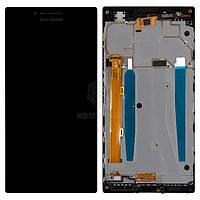 Дисплей Lenovo P70, P70-A, P70a, P70T Оригинал с сенсорным стеклом и рамкой Черный
