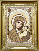 Набір для вишивання бісером Пресвята Богородиця Казанська (сепія). КРМ-040ч
