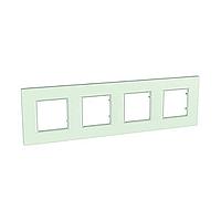 Рамка четырехместная Стекло Schneider Electric Unica Quadro (mgu2.708.17), фото 1