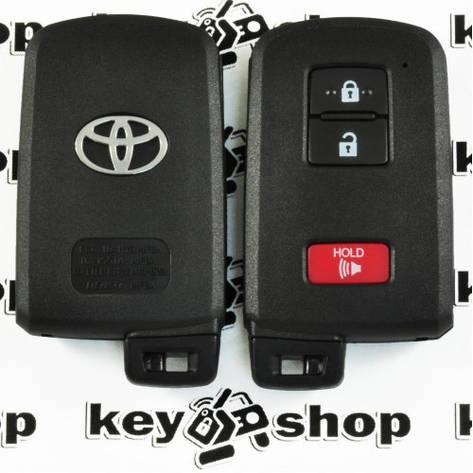 Оригінальний смарт ключ для Toyota (Тойота) 2+1 кнопка H-chip, 1P:88, 315MHz, фото 2