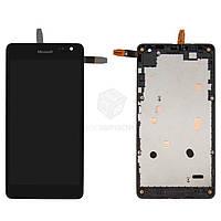 Дисплей Microsoft Lumia 535 Dual Sim|Оригинал|с сенсорным стеклом и рамкой|CT2C1607FPC-A1-E|Черный