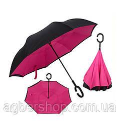 Зонт обратного сложения (т1007/0) розовый