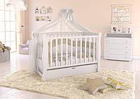 """Детская кроватка  Angelo Lux-1 Цвет """" белый """""""