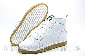 Женские зимние ботинки в стиле Lacoste, Белые