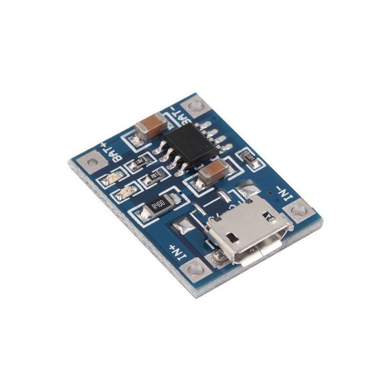 Модуль заряда Mini USB LI-ION с защитой TP4056 #100265