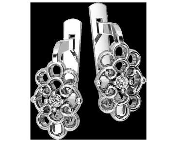 Серьги серебряные Ажурные 41200