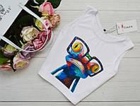 """Женская блуза-топ, майка """"Лягушка"""" из микродайвинга, размеры 42, 44, 46, 48."""