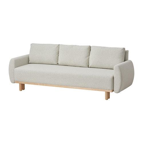 Ikea Grunnarp 3 местный диван кровать бежевый S60436674