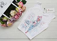 """Женская блуза-топ, майка """"Девушка"""" из микродайвинга, размеры 42, 44, 46, 48."""