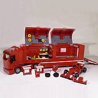 Конструктор Lepin 21010 Феррари F14 и грузовик Skuderia 914 деталей, фото 1