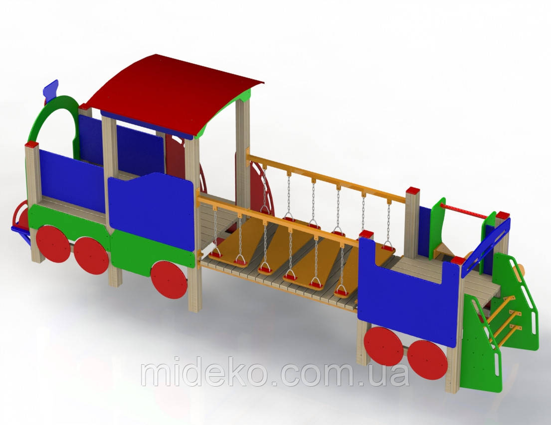 """Ігровий комплекс """"Паровозик з вагончиком"""" MIDEKO"""