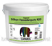 "Силиконовая штукатурка Silikon-Fassadenputz R20 Weis (Силикон-Фасаденпутз) 25,0 kg ""короед"""