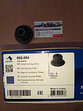 Втулка ресори (2шт. на вухо) 59.12 (D=40mm; d=16.5 мм; L=40mm) Iveco 060.094, фото 3