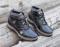 Ботинки мужские зимние кожаные черные (код 3092), фото 1