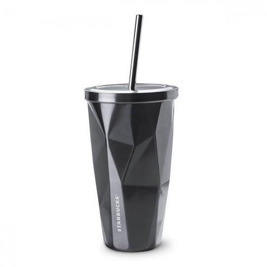 Стакан с крышкой и трубочкой Starbucks 503  black