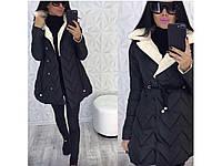 """Женское пальто на синтепоне """"зиг-заг"""""""