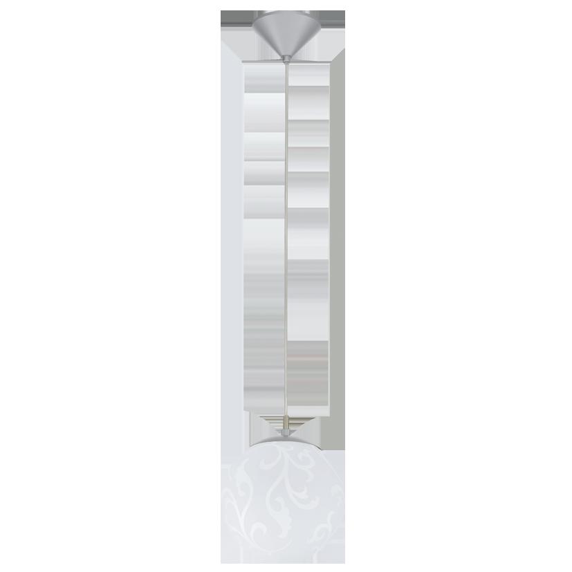 Подвесной светильник 90741 EGLO Rebecca 1х60Вт Е27 металл/белый