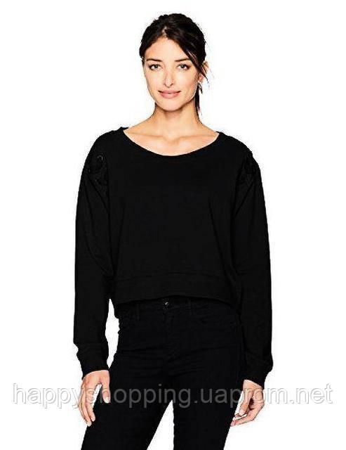 Женский черный укороченный свитшот  Calvin Klein Jeans
