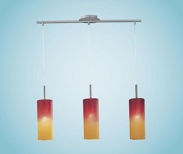 Подвесной светильник 83203 EGLO Troy 1 3х60Вт Е27 оранж/никель-мат.