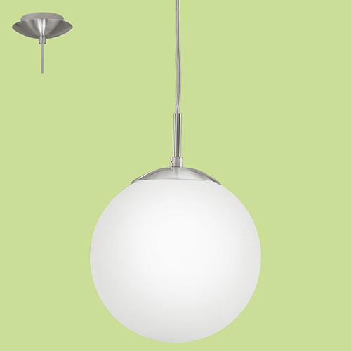 Светильник подвес 93197 EGLO Rondo 1 1х7Вт Е27 стекло/серебро