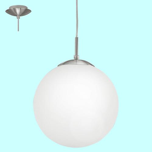 Светильник подвесной 93198 EGLO Rondo 1 1х7Вт Е27 стекло/серебро